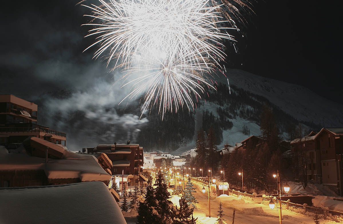 Val d'Isere Fireworks