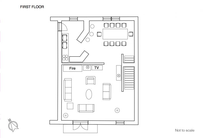 Maison du Rocher floor plan 1F