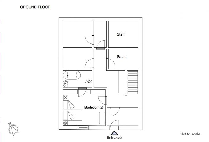 Maison du Rocher floor plan GF