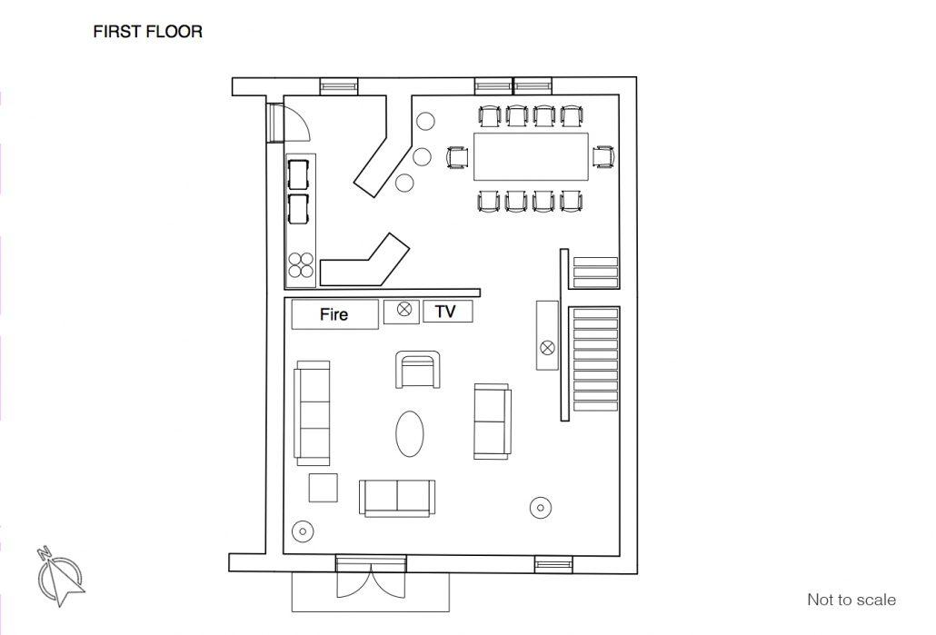 Maison du Rocher floor plan 1F