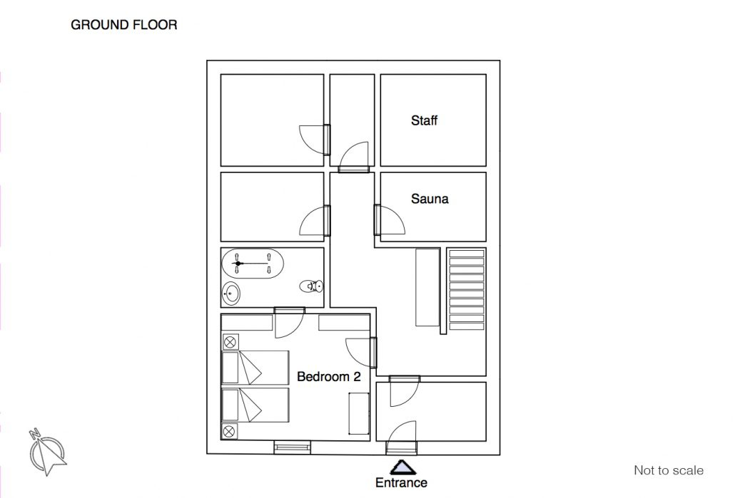 Maison du Rocher floor plan GF