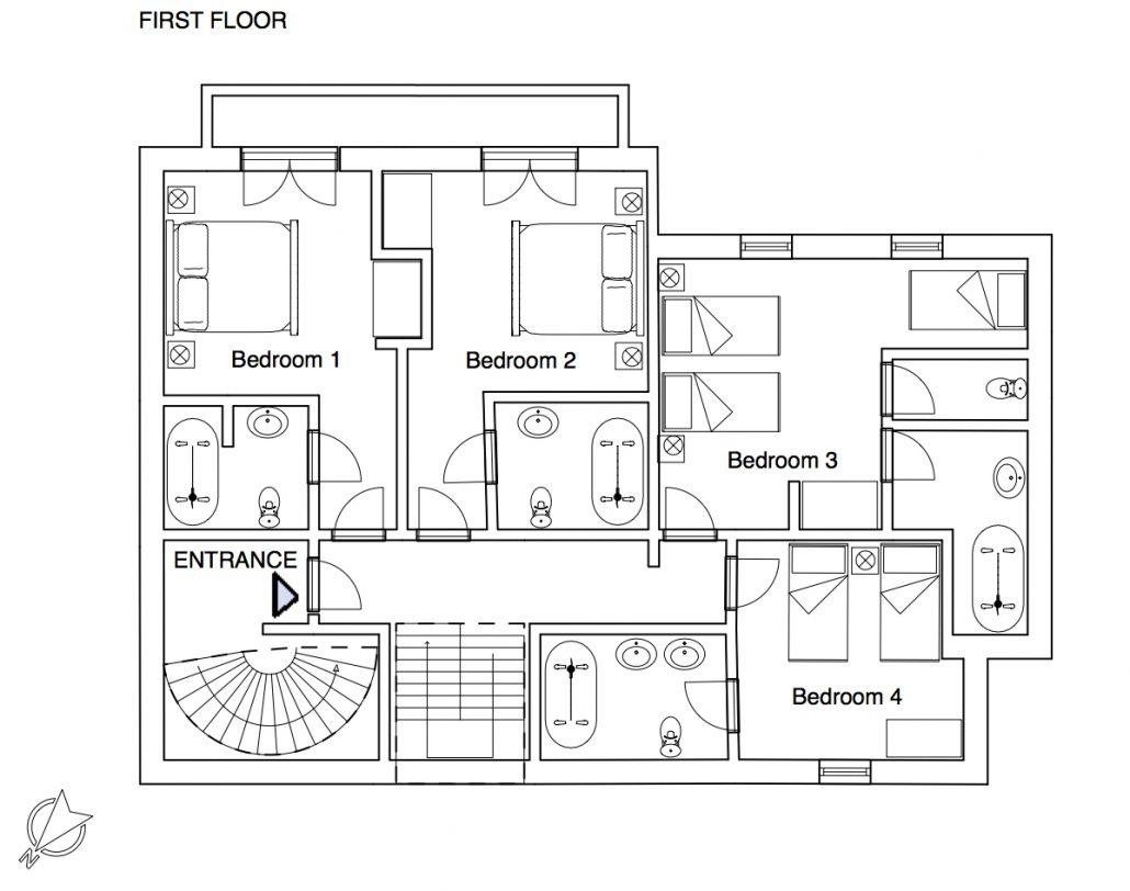 YSE Chalet des Neiges floor plan 1