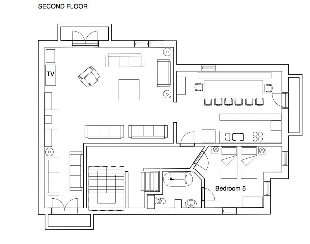 YSE Chalet des Neiges floor plan 2