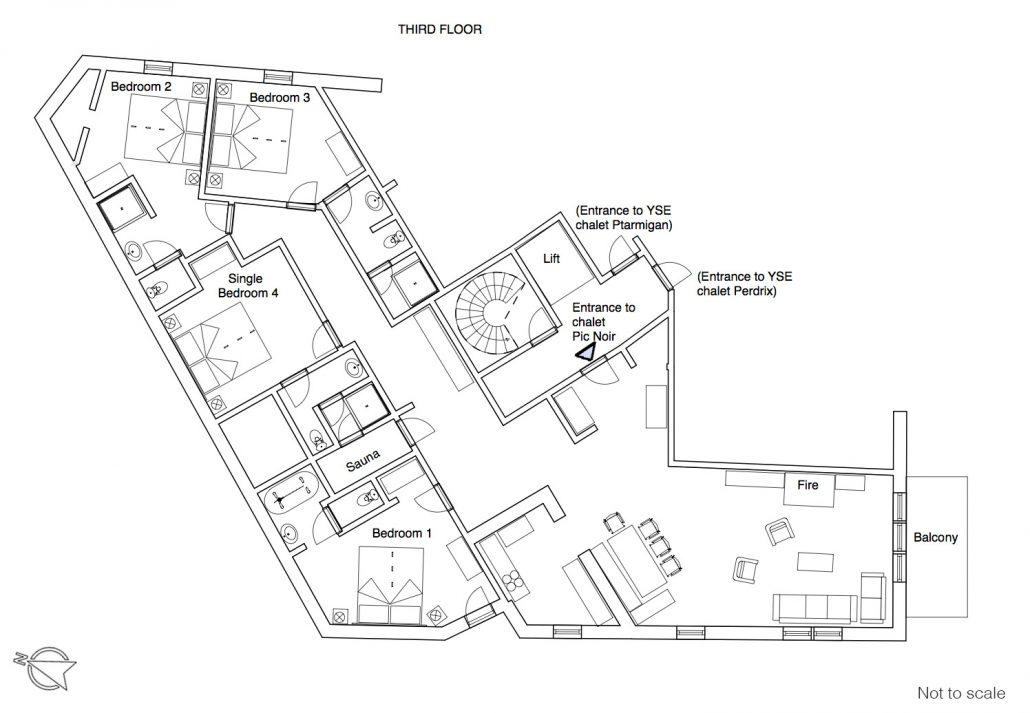 Pic Noir floor plan