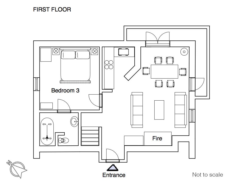 Pistes floor plan 1F