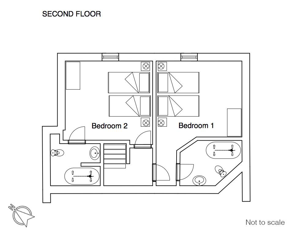 Pistes floor plan 2F