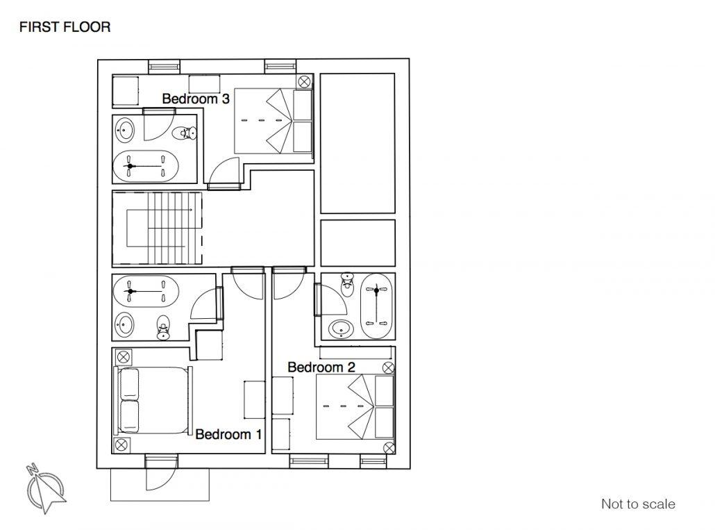 Vieux Cret floor plan 1F