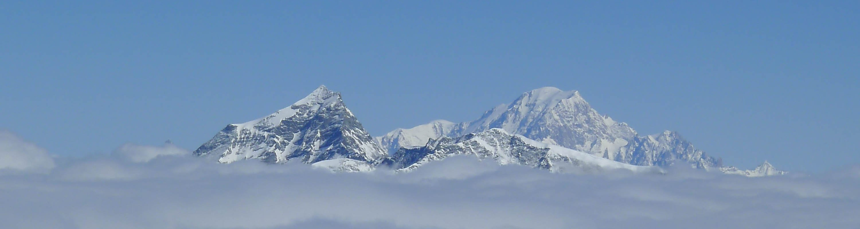Val d'Isere Mont Blanc view